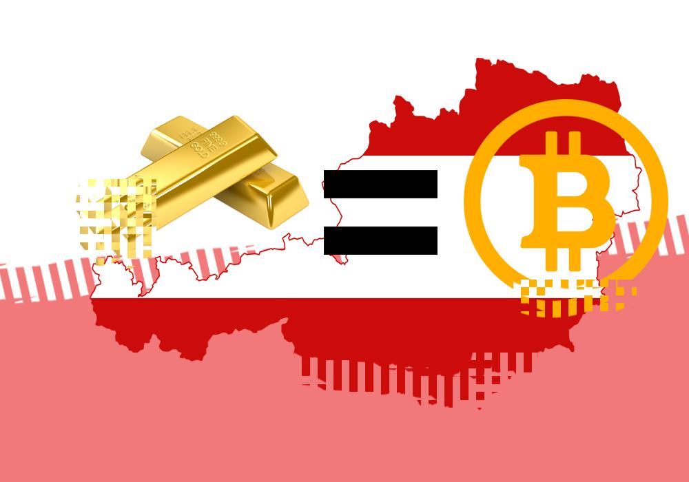 Австрия хочет регулировать криптовалюту как золото