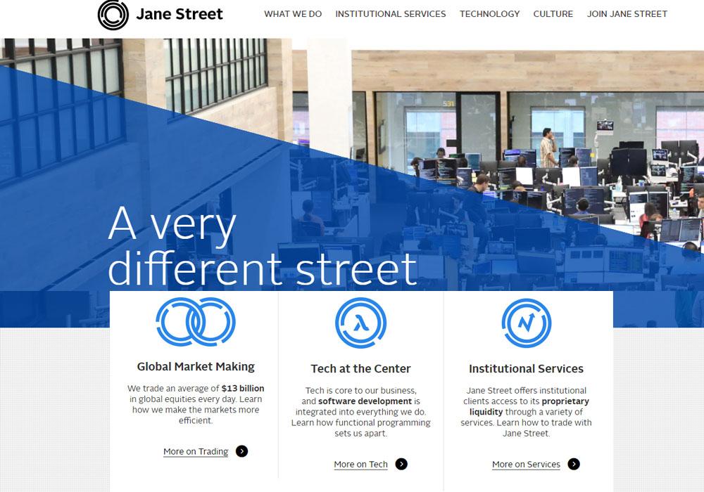 В торговлю криптовалютой включается Jane Street Capital