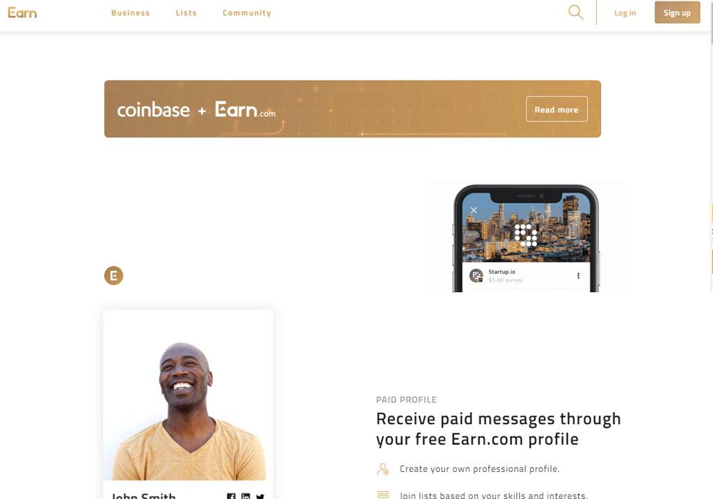 Coinbase приобрела стартап Earn.com