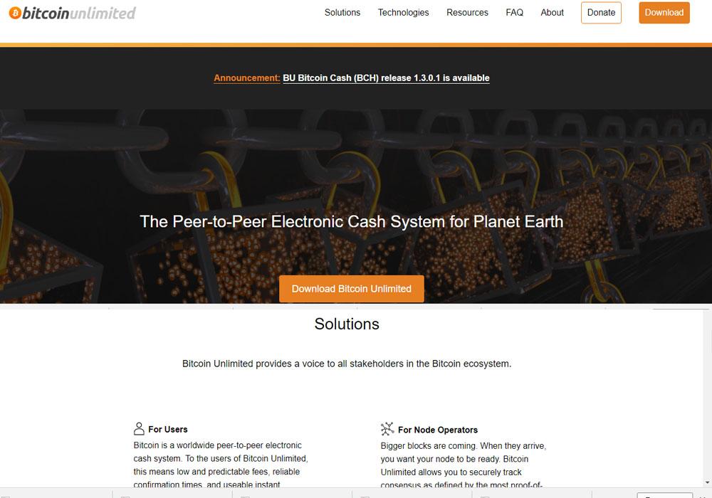 Bitcoin Unlimited выпустил клиент для форка