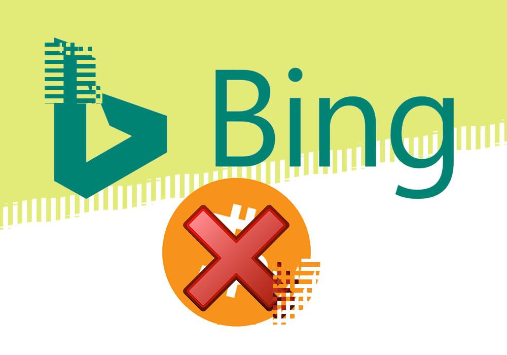 Bing тоже против крипторекламы