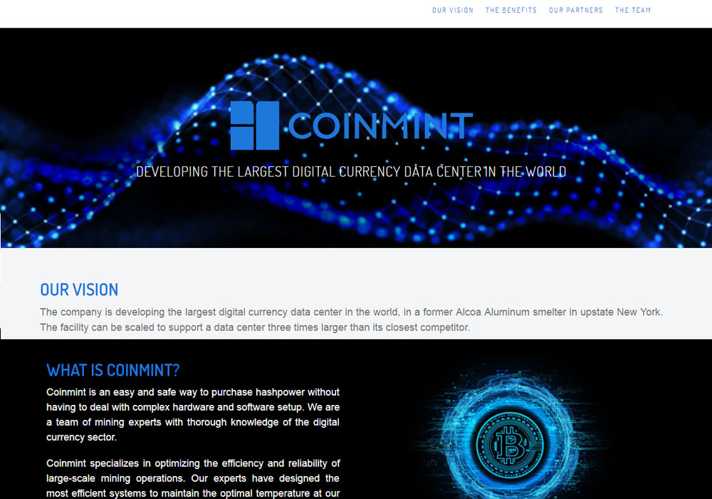Coinmint создаст майнинг-фабрику за 700 млн.